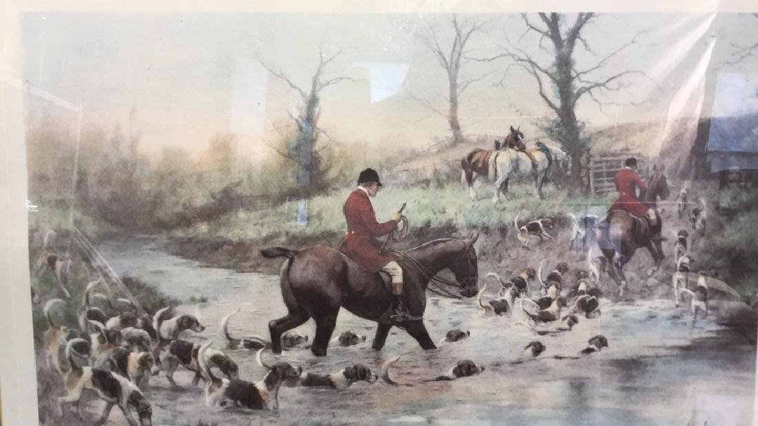 Crossing the Ford Print Horse and Hound Hunt - 3