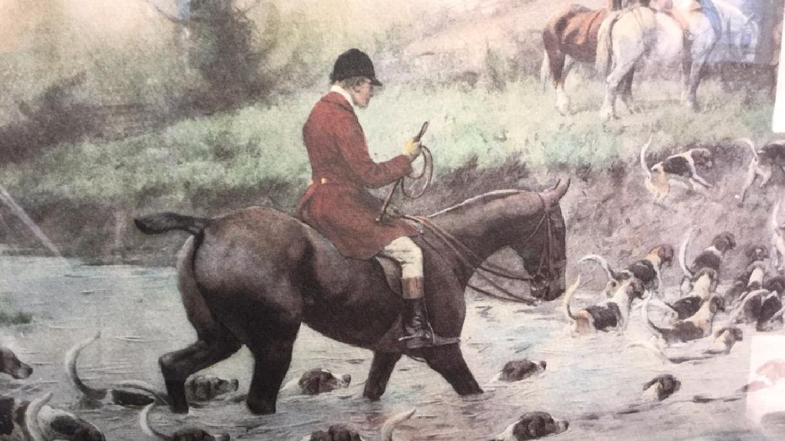 Crossing the Ford Print Horse and Hound Hunt - 4