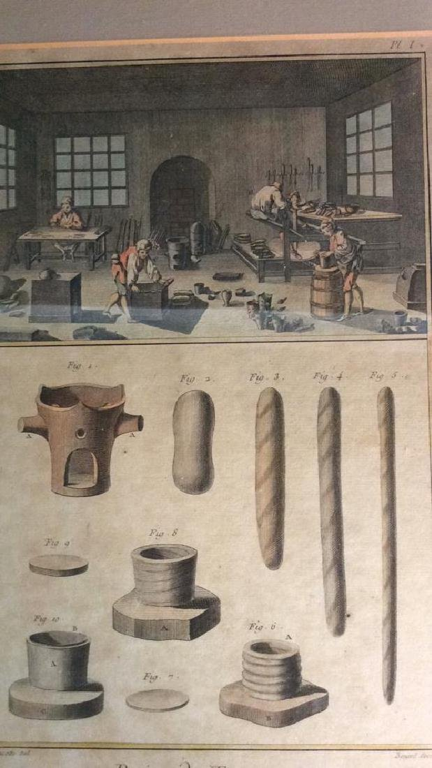 Antique French 19th Century Colored Engraving - 10