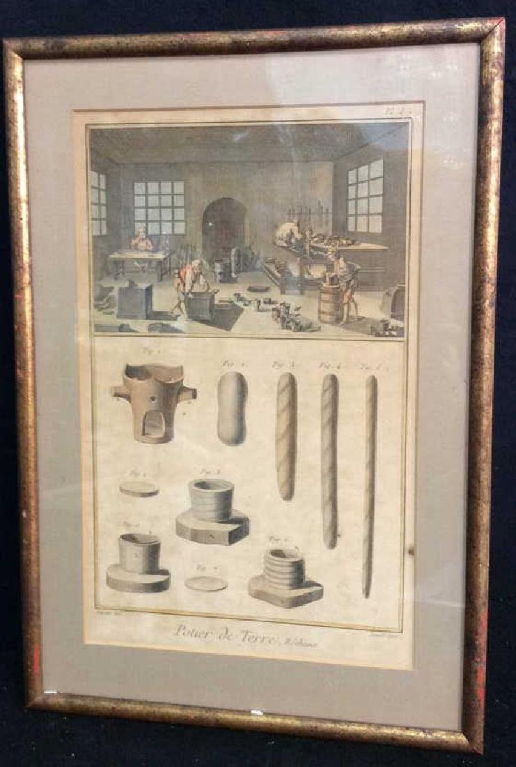 Antique French 19th Century Colored Engraving