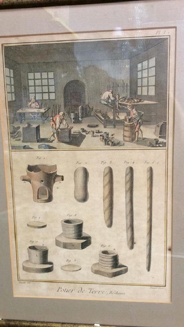Antique French 19th Century Colored Engraving - 2