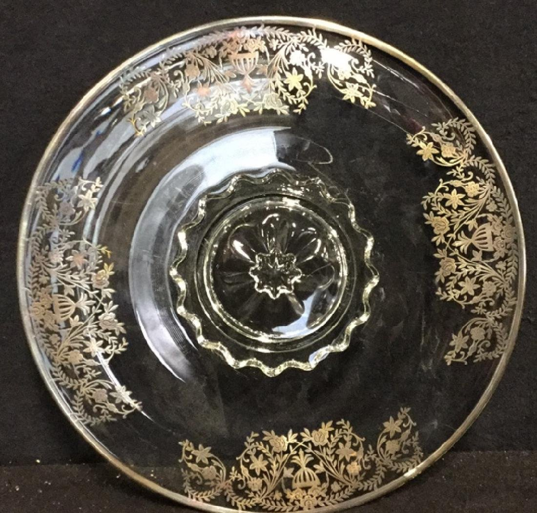 Vintage silver on Glass Cake Plate