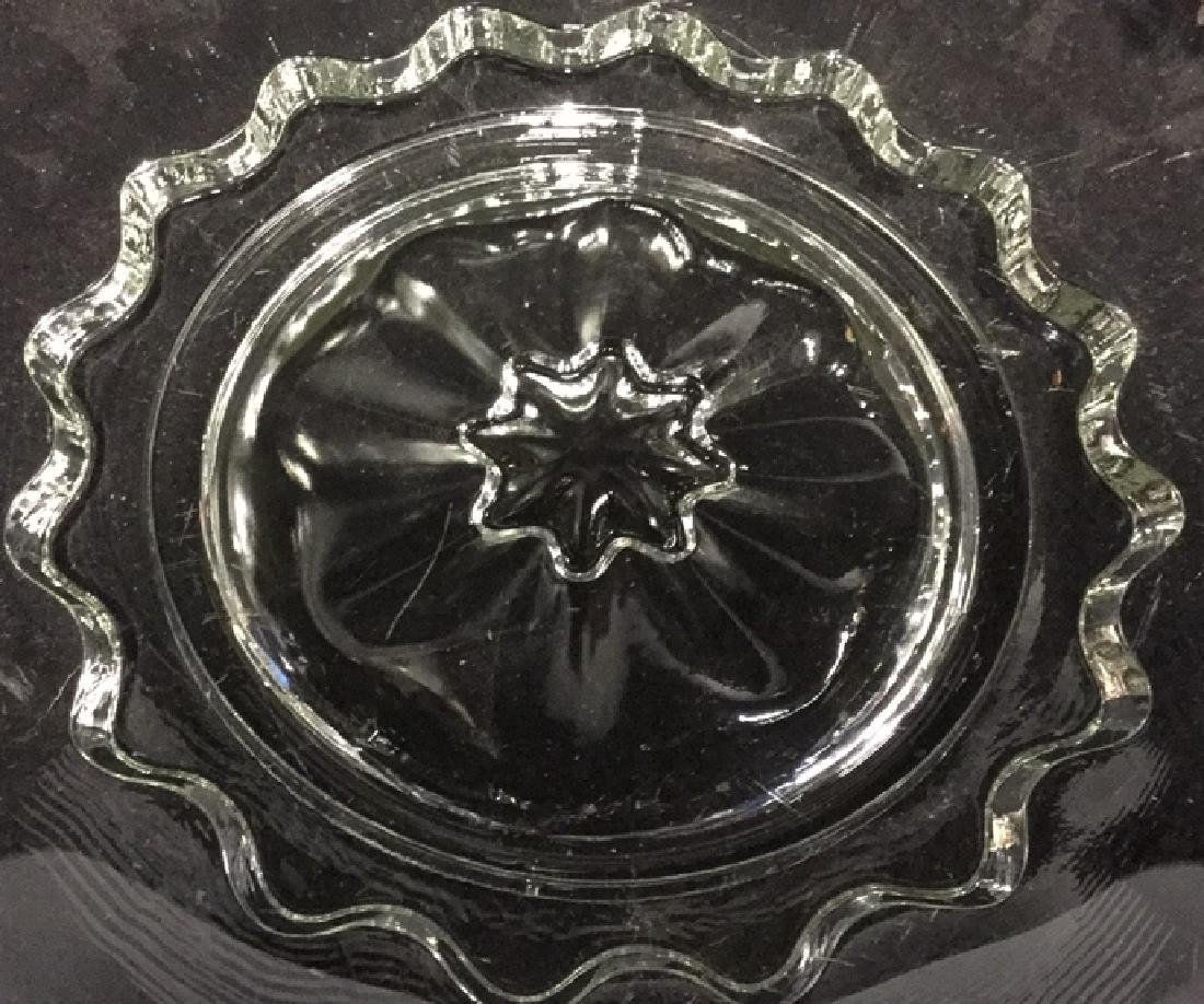 Vintage silver on Glass Cake Plate - 3