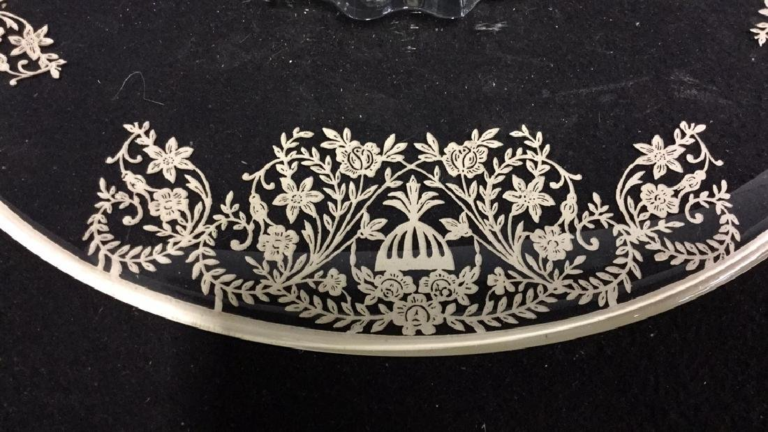 Vintage silver on Glass Cake Plate - 4