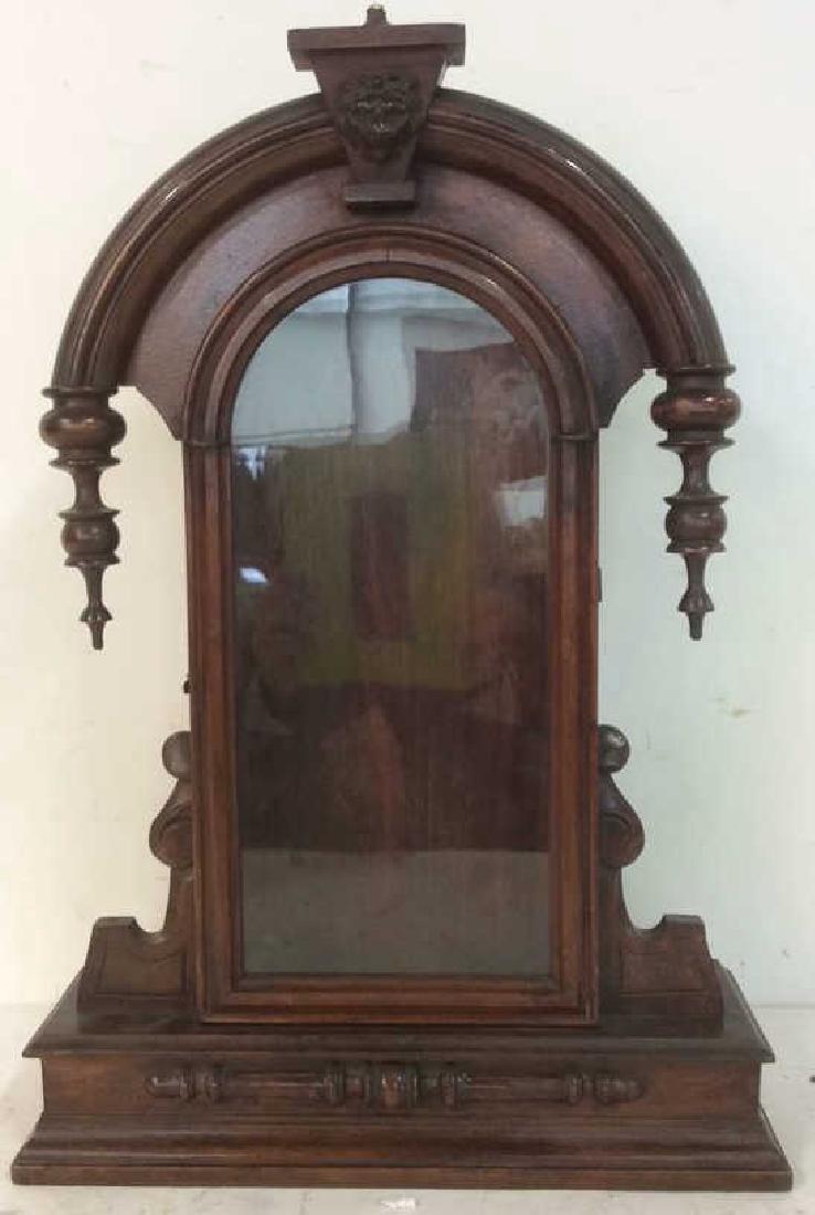 Antique Carved Hanging Curio Cabinet