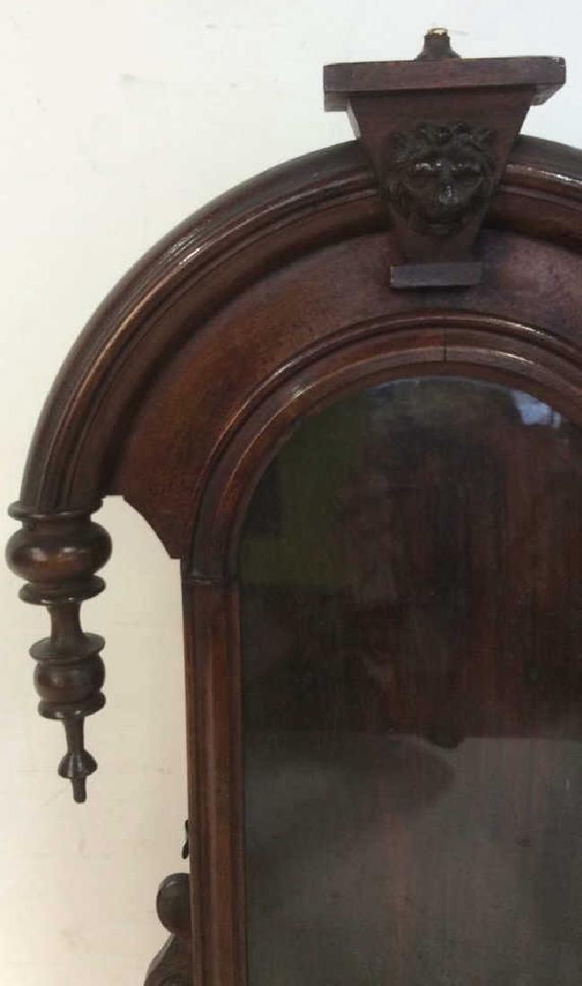 Antique Carved Hanging Curio Cabinet - 3