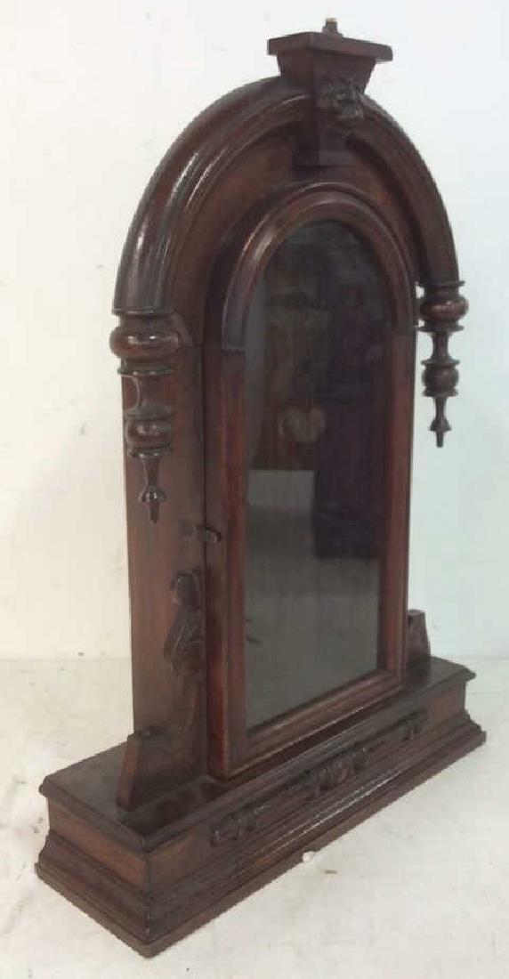 Antique Carved Hanging Curio Cabinet - 4