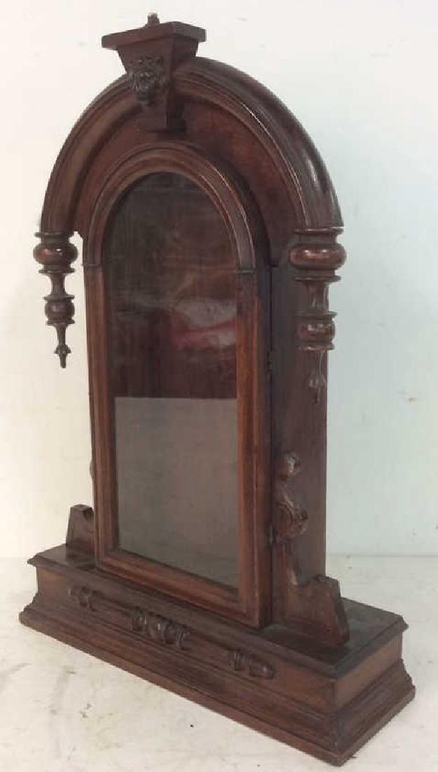 Antique Carved Hanging Curio Cabinet - 7