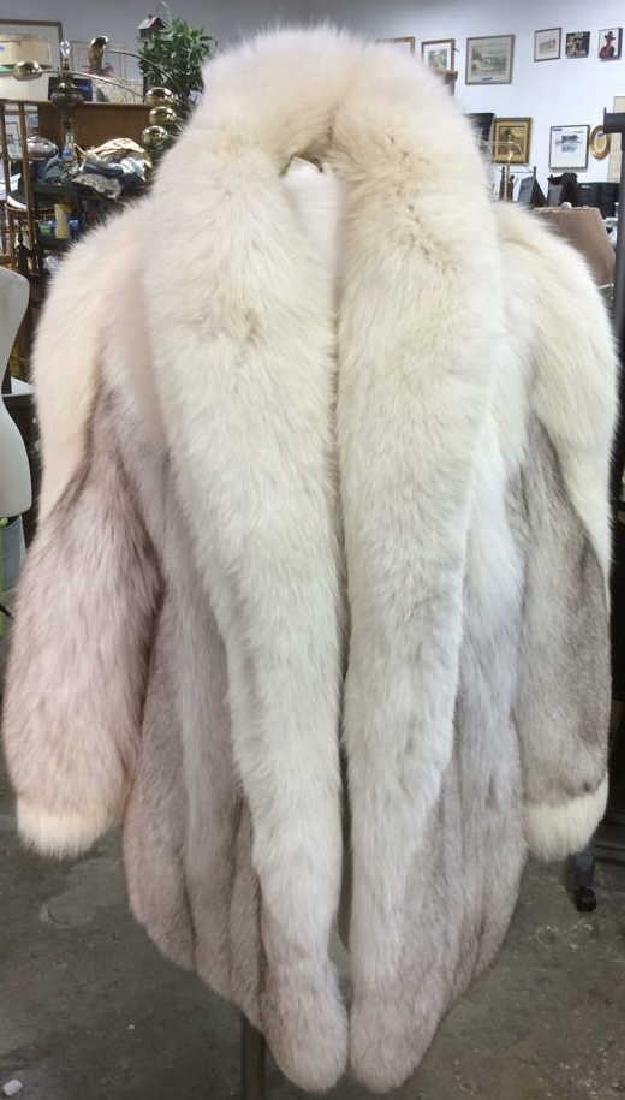 White And Silver Fox Fur Jacket