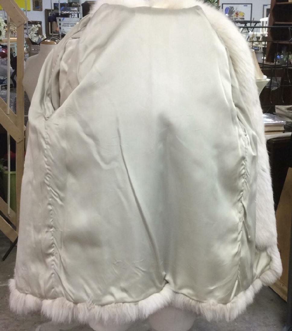 White And Silver Fox Fur Jacket - 7
