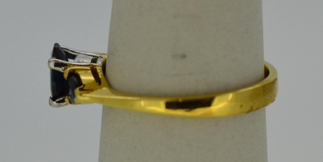 Hearts Of Sapphire 18K Yellow Gold Ring - 3