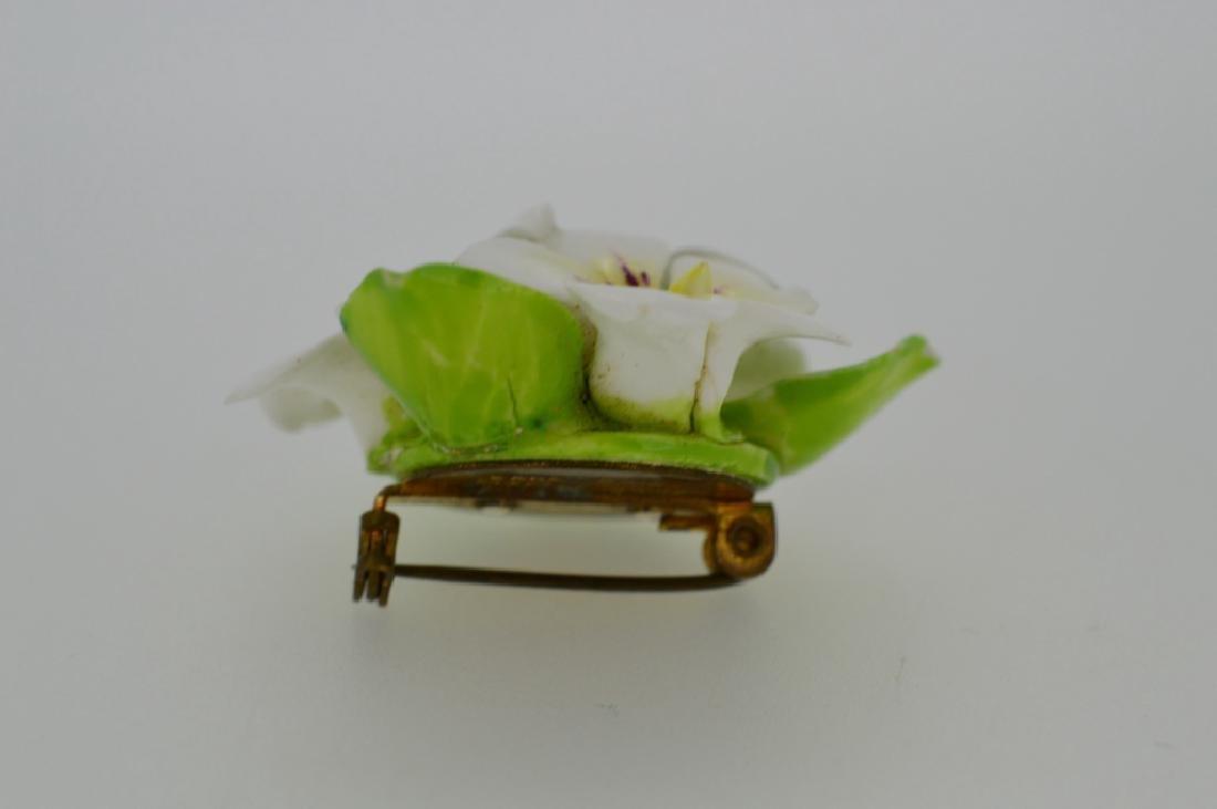 Porcelain Flower Pin - 2