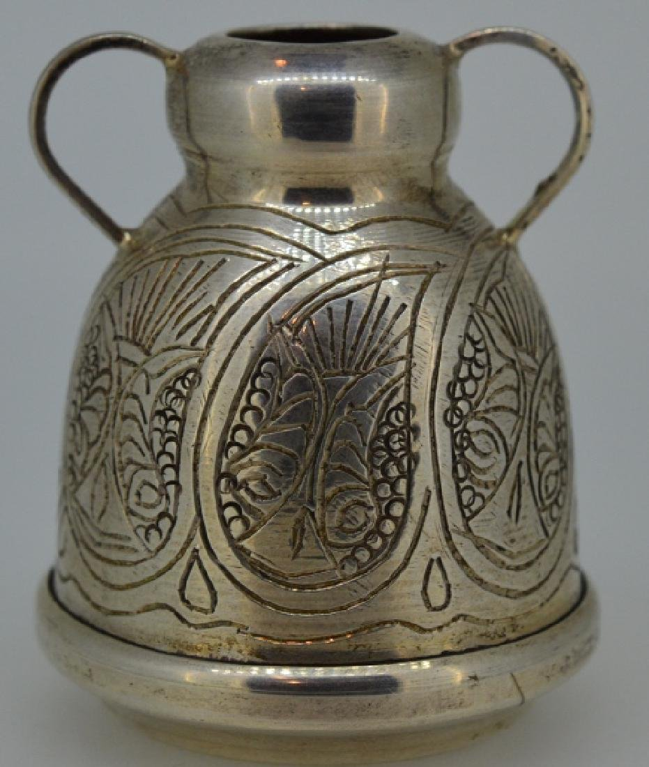 Sterling Silver Arabic Designed Cup - 2