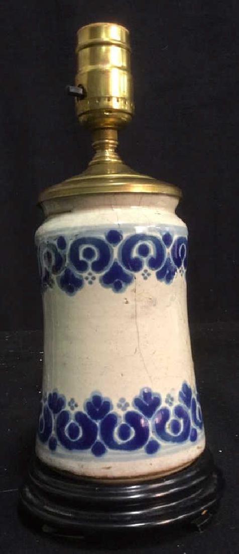 Vintage Italian Majolica Ceramic Table Lamp