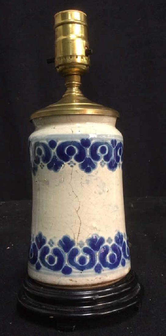 Vintage Italian Majolica Ceramic Table Lamp - 2