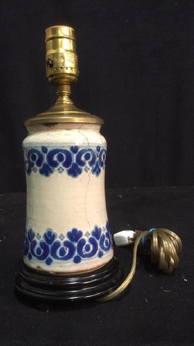 Vintage Italian Majolica Ceramic Table Lamp - 3