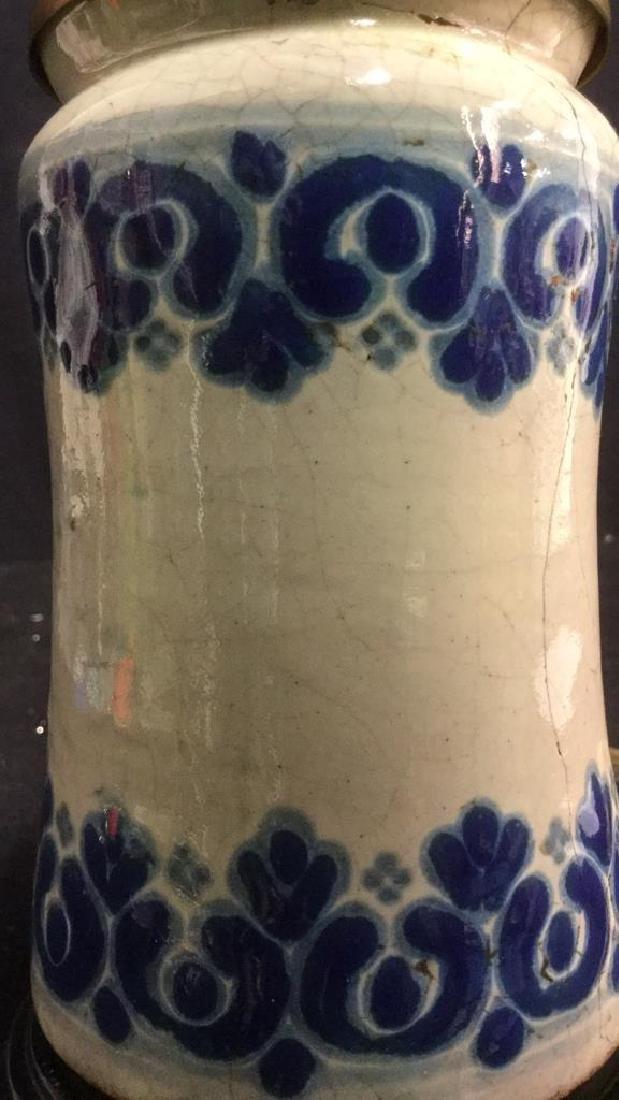 Vintage Italian Majolica Ceramic Table Lamp - 4