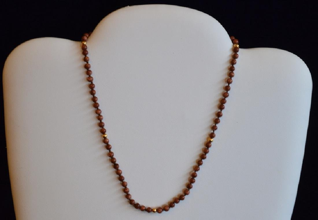 Copper & Gold Beaded Necklace