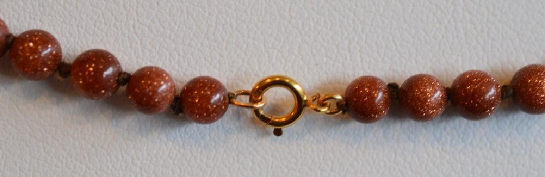 Copper & Gold Beaded Necklace - 3