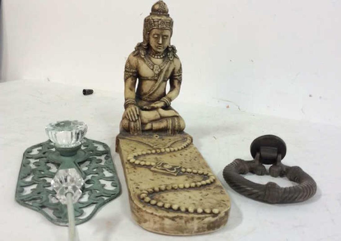 Carved Buddha, Iron Door Knocker more - 2