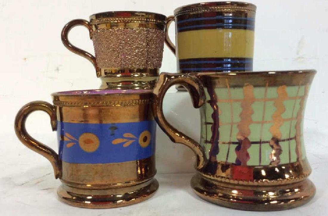 English Antique Copper Lusterware