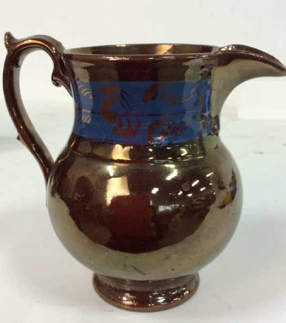 Group Antique English Copper Luster - 10