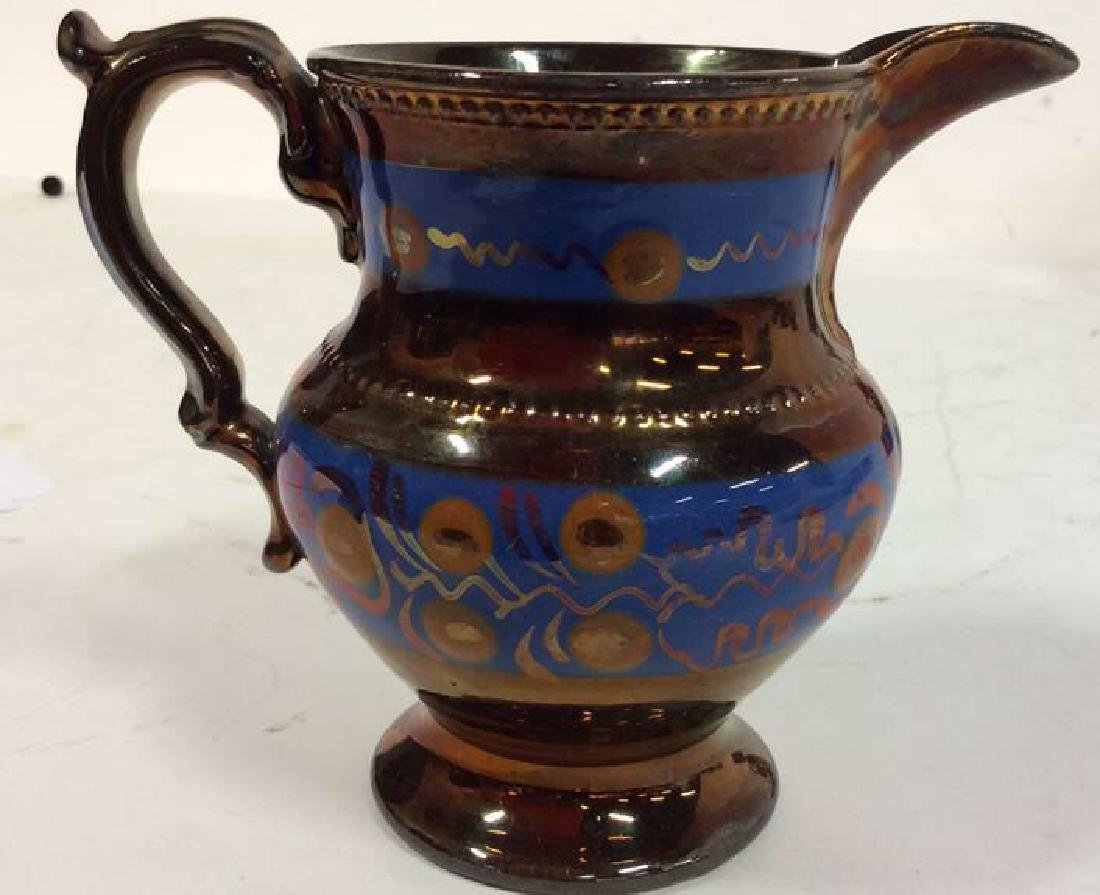 Group Antique English Copper Luster