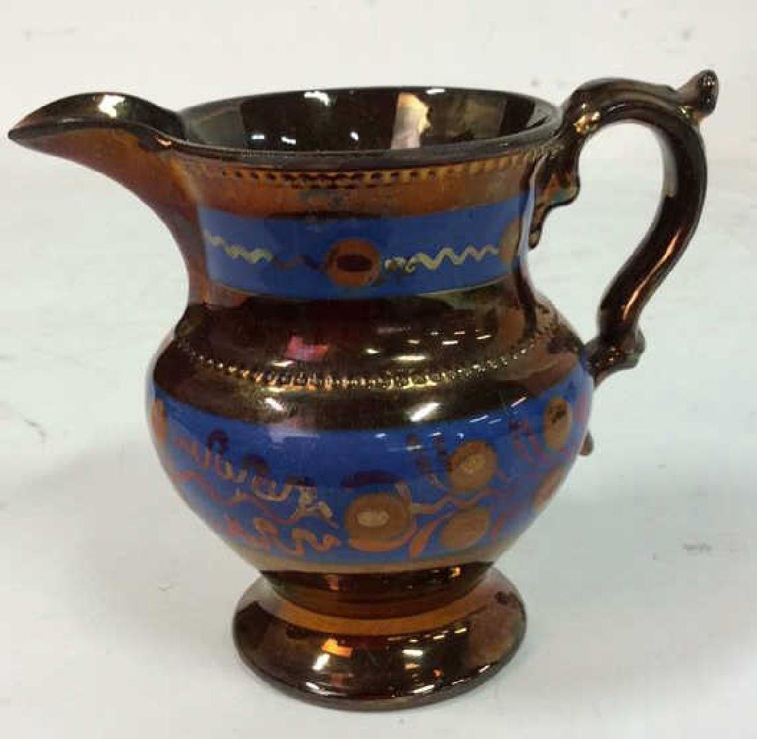 Group Antique English Copper Luster - 4
