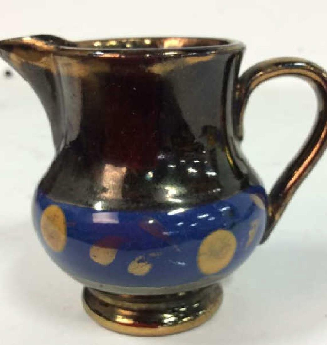 Group Antique English Copper Luster - 5