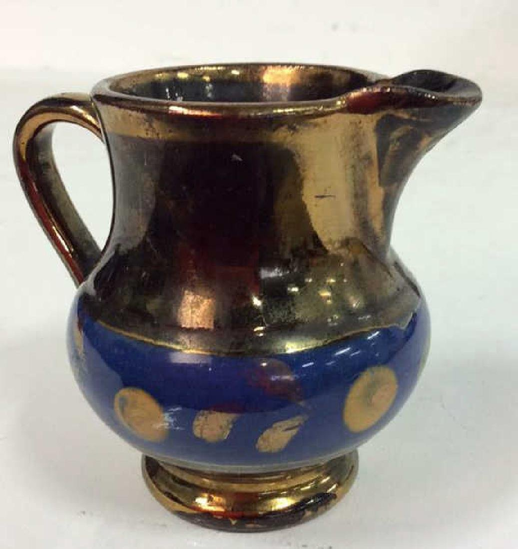 Group Antique English Copper Luster - 6