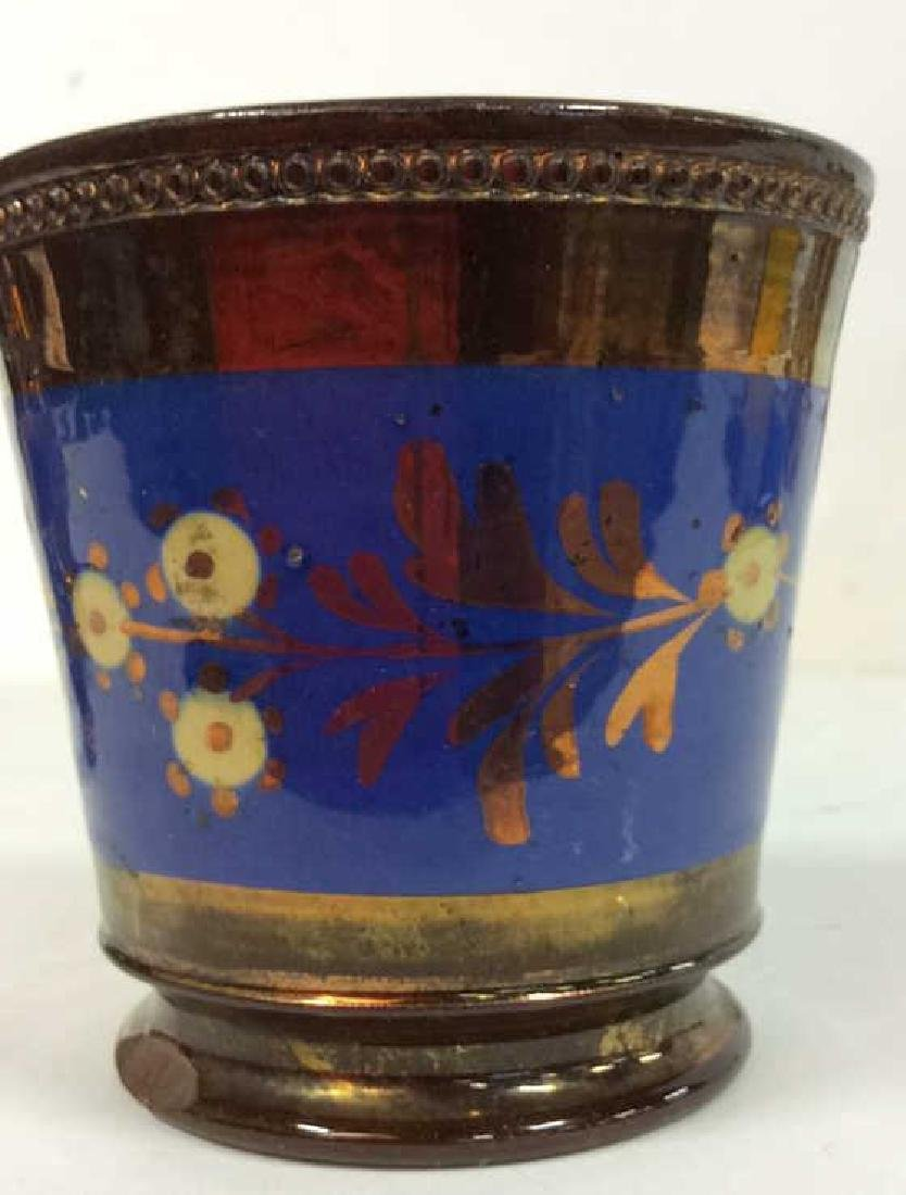 Group Antique English Copper Luster - 8