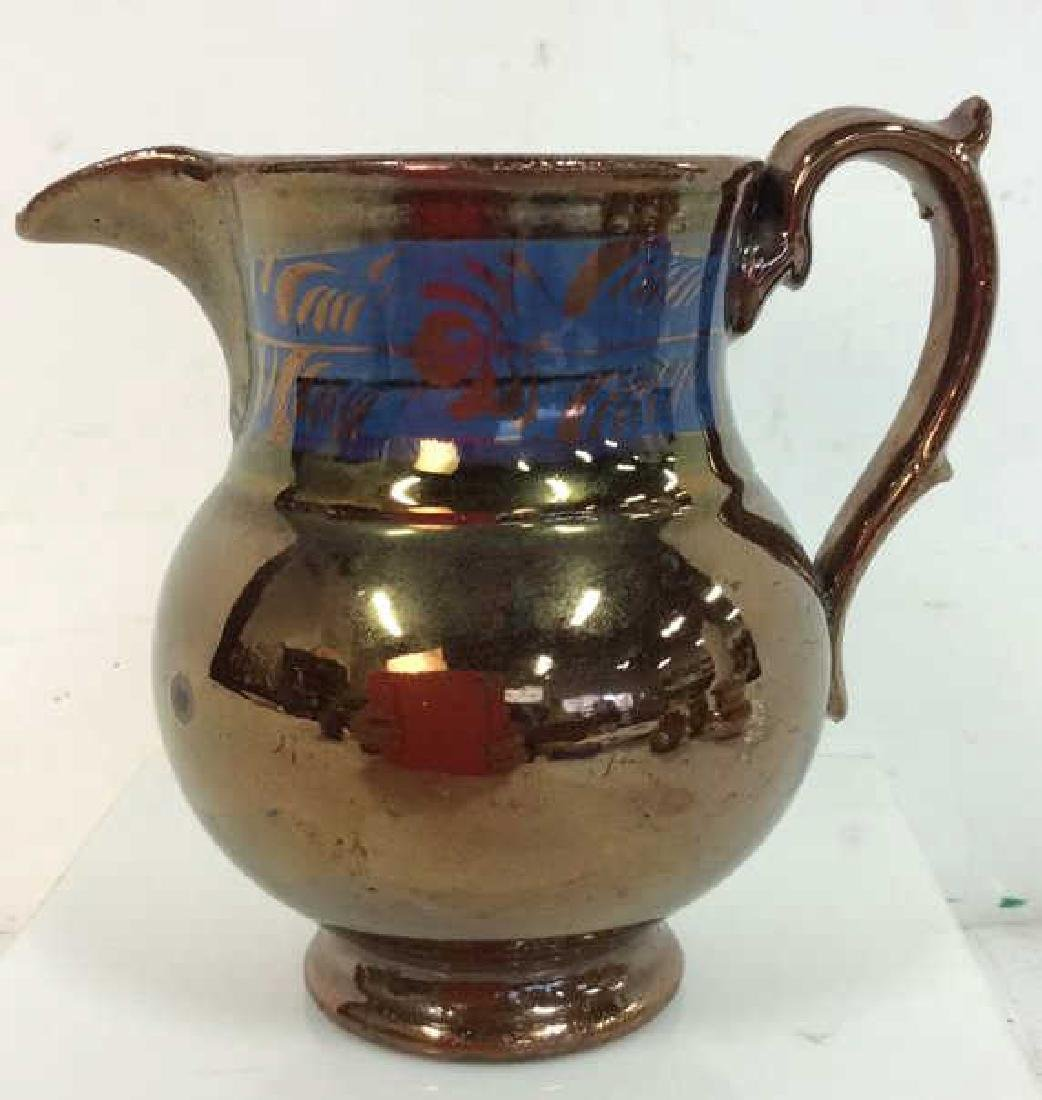 Group Antique English Copper Luster - 9