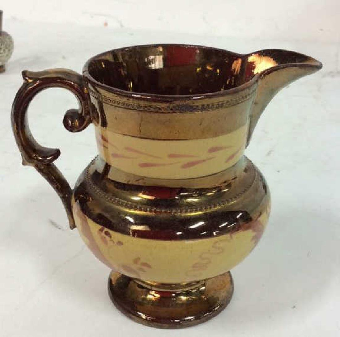 English Antique Copper LusterwareGroup - 5