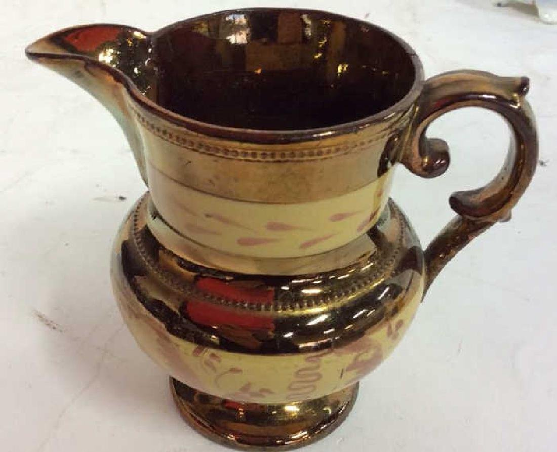 English Antique Copper LusterwareGroup - 6