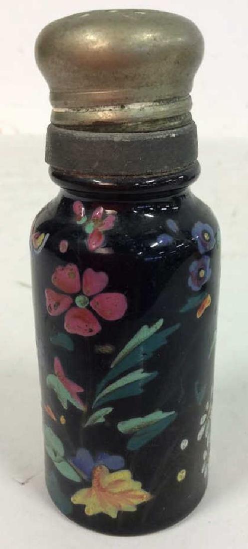 Antique Pair Enameled Lidded Jars - 2