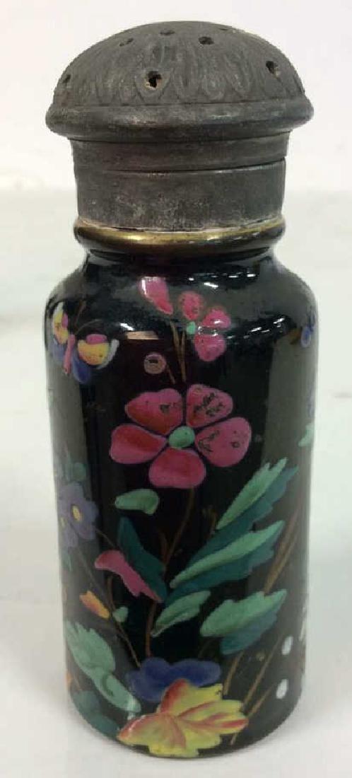 Antique Pair Enameled Lidded Jars - 4