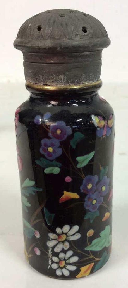 Antique Pair Enameled Lidded Jars - 5