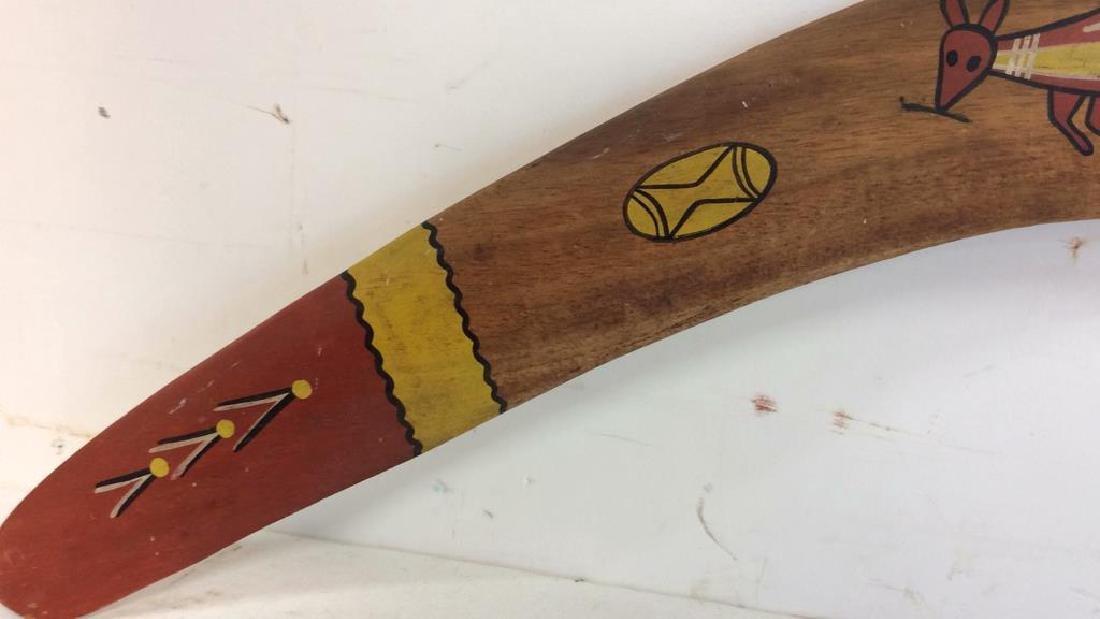 Signed Painted Australian Boomerang - 2