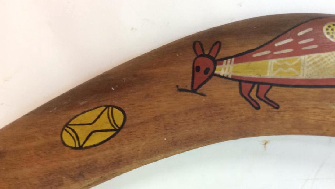 Signed Painted Australian Boomerang - 3