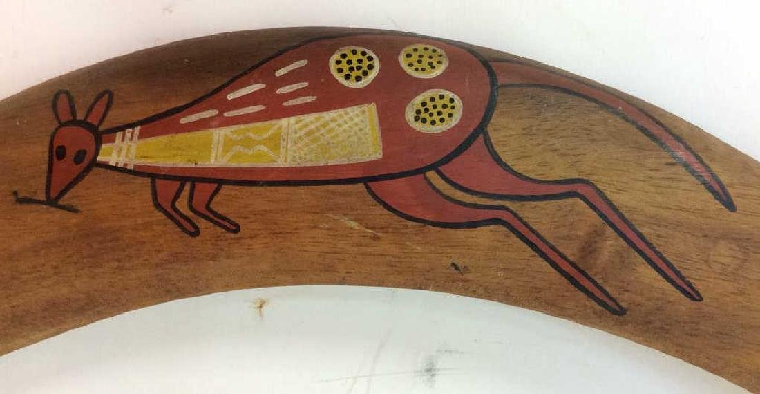 Signed Painted Australian Boomerang - 4