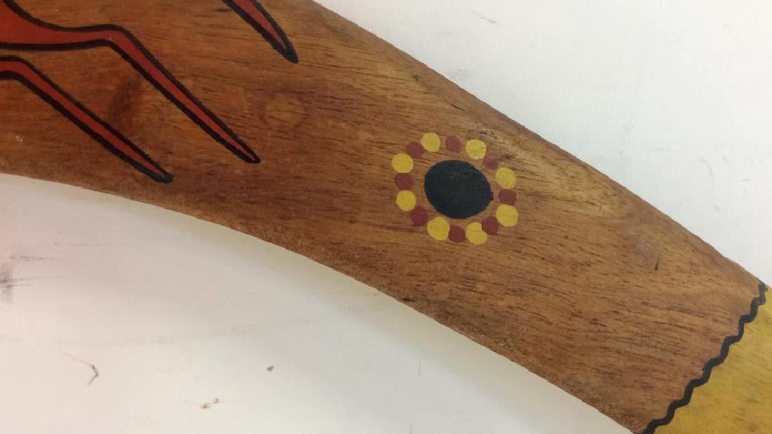 Signed Painted Australian Boomerang - 5