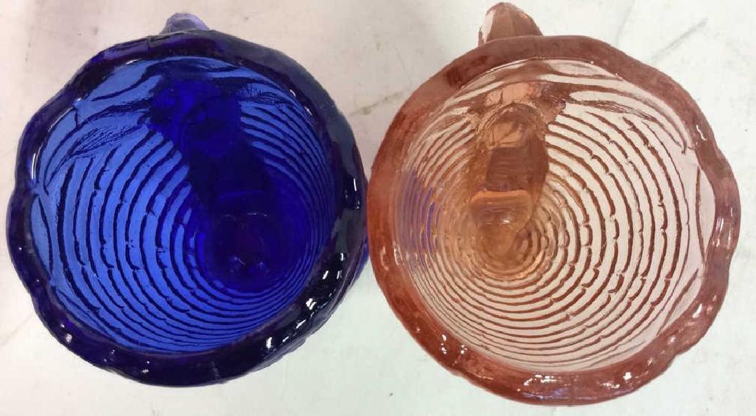 Vintage Blue Pink Rabbit Glass Egg Cuos - 5