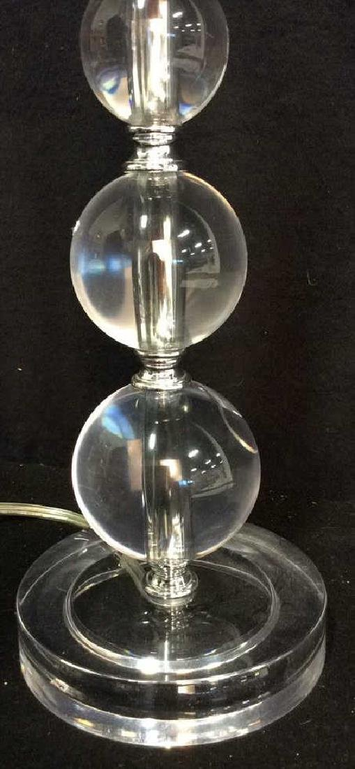 Lucite Stacked Ball Lamp - 4