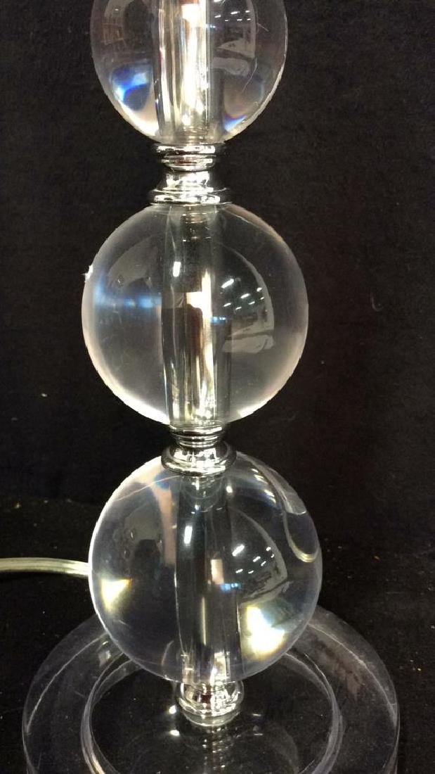 Lucite Stacked Ball Lamp - 5