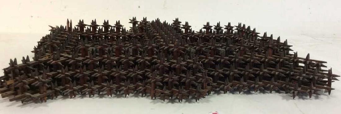 Tramp Art Crown of Thorns Frame - 2