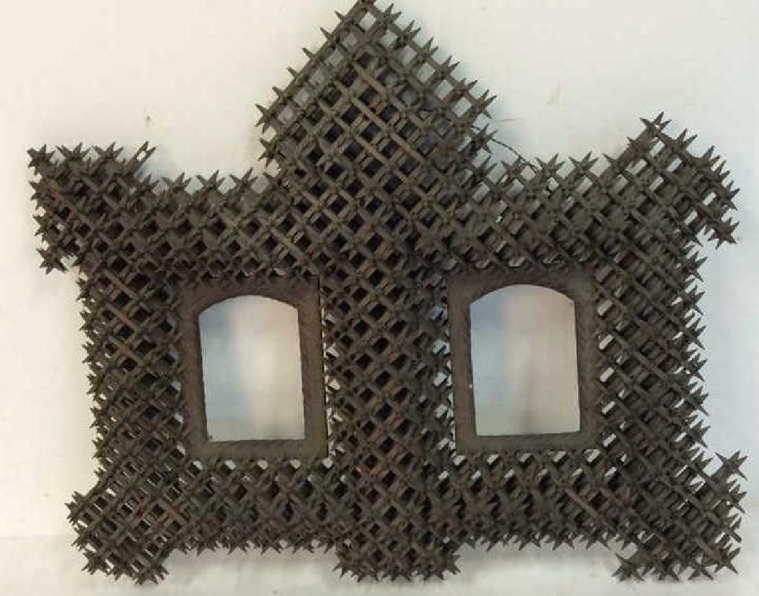 Tramp Art Crown of Thorns Frame - 9