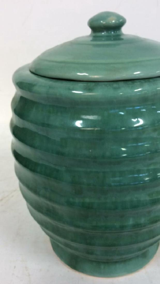 American Art Pottery Aqua Cookie Jar - 9