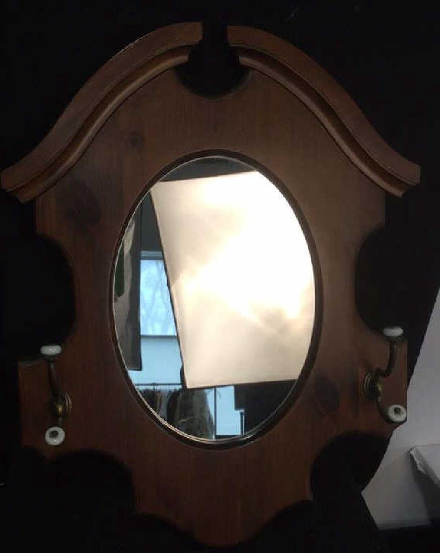 Two Vintage Wood Wall Mirrors - 3