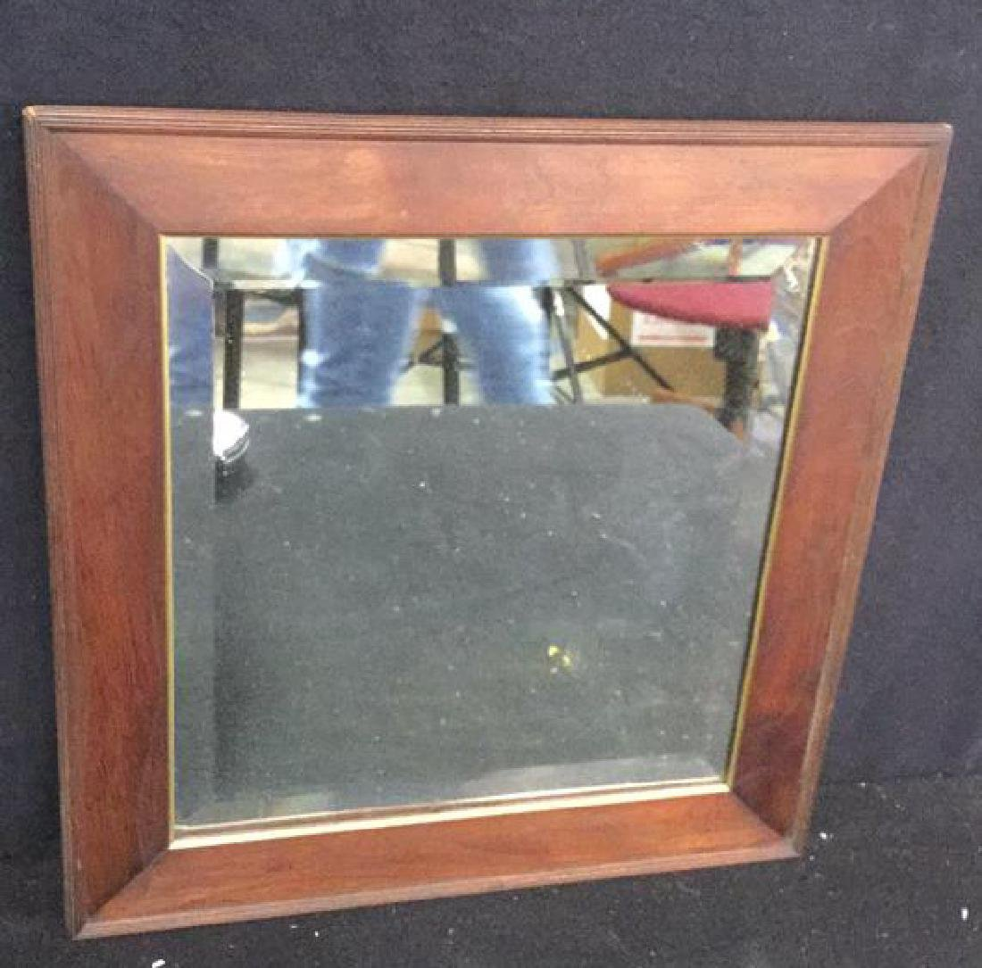 Two Vintage Wood Wall Mirrors - 8