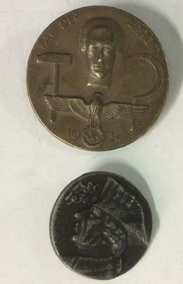 Group Lot 2 WWII Artifact Coin Pins - 2